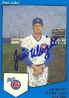 Jim Wright Iowa Cubs - Cubs Affiliate 1989 Pro Cards Autographed Hand Signed Trading... by Hall of Fame Memorabilia