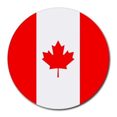 Canada Flag Round Mouse Pad