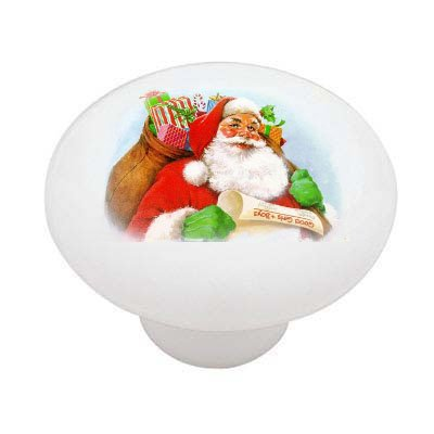 Vintage Christmas Santa Decorative High Gloss Ceramic Drawer Knob