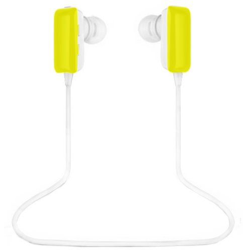 Ecsem® Mini Lightweight Wireless Stereo Sports/Running & Gym/Exercise Bluetooth Earbuds Headphones Headsets W/Microphone For Iphone 5S 5C 4S 4, Ipad 2 3 4 New Ipad, Ipod, Android, Samsung Galaxy, Smart Phones Bluetooth Devices (Yellow)