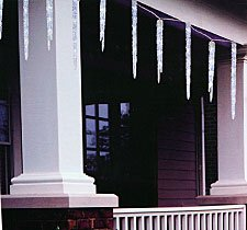 Outdoor Icicle Christmas Lights - 10 Feet 50