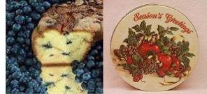 "New England Blueberry 8"" Coffee Cake (Season'S Greetings Gift Tin)"