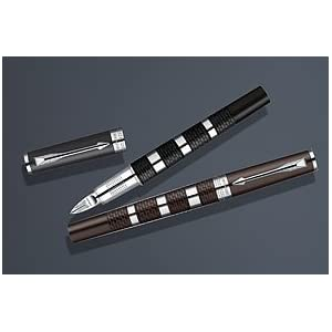 Parker Ingenuity Large Daring Brown Rubber and Metal Chrome Trim (CT) 5th Technology Mode Pen -  FREE Shipping