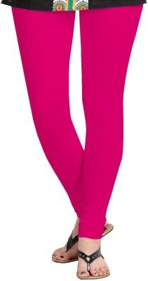 Nitya Fashion\'s Cotton Legging, Colour - RANI / DARK PINK, Size: Free Size