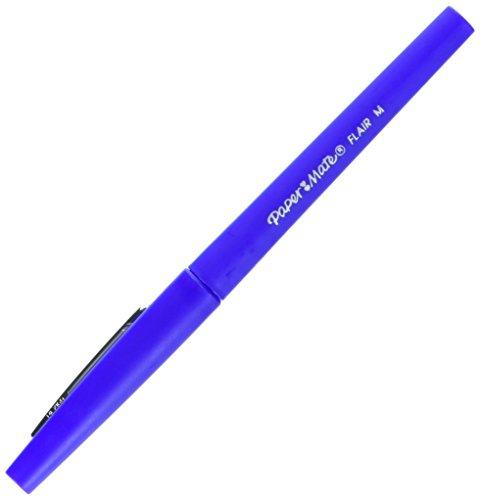 paper-mate-flair-felt-tip-pens-medium-point-blue-12-count