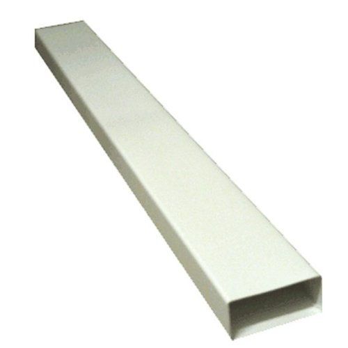 110MM X 54MM (4x2) RECTANGULAR FLAT DUCTING 1 METRE - WHITE PLASTIC