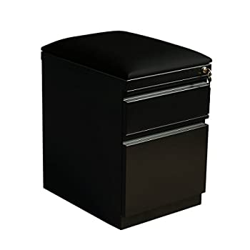 "Hirsh Industries 20"" Deep Mobile Seat Box-File Cabinet in Black"