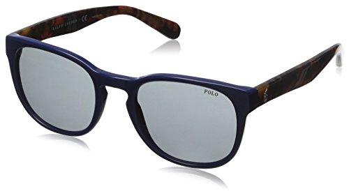 Polo Ralph Lauren PH4099, Occhiali da Sole Unisex-Adulto, Blu (Blue 554187), Taglia Unica (Taglia Produttore: One Size)