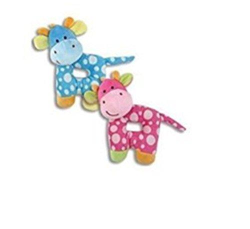 "PLUSH GIRAFFE RATTLES 7"" Blue/Toys/Crib Toys/Baby Shower"