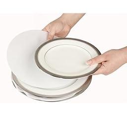 Soft White Felt Plate Dividers (set Of 48) - White - Set Of 2