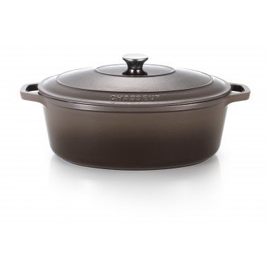 Cocotte ovale 29 cm taupe