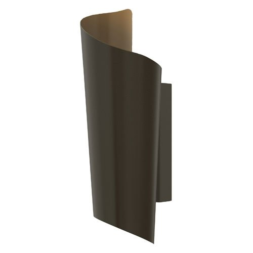 """Hinkley Lighting 2350 15"""" Height Led Outdoor Wall Sconce From The Surf Collectio, Bronze"""