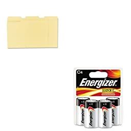 KITEVEE93BP4UNV12113 - Value Kit - Energizer MAX Alkaline Batteries (EVEE93BP4) and Universal File Folders (UNV12113)