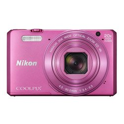 Nikon Coolpix S7000 16 MP Point and Shoot Camera (Pink) with 20x Optical Zoom, 8GB Memory Card and Camera Case