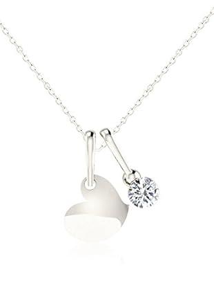 Friendly Diamonds Conjunto de cadena y colgante FDP12302W Oro Blanco
