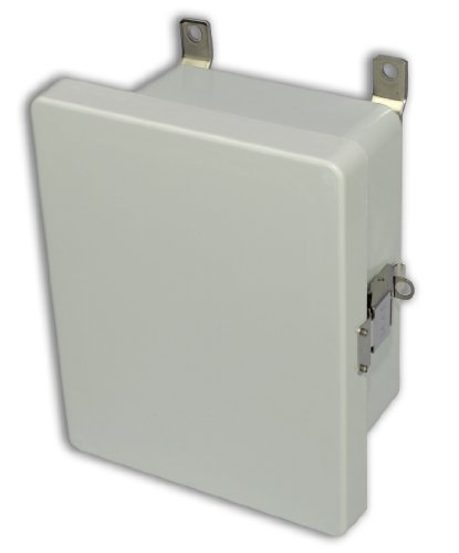 Allied Moulded Am1086L Am Series Fiberglass Jic Size Junction Box, Snap Latch And Hinged Cover
