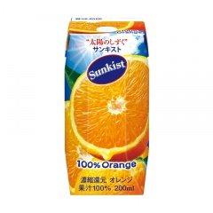 森永乳業 サンキスト100%オレンジ(プリズマ容器)200ml紙パック×24本入