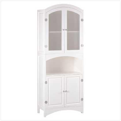 Wood Linen Cabinet front-954369