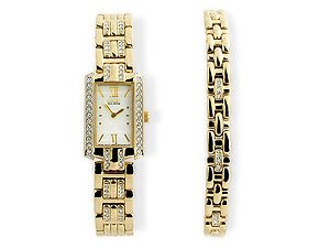 Citizen Ladies Eco-Drive Watch  &  Bracelet Set Eg2202-63D