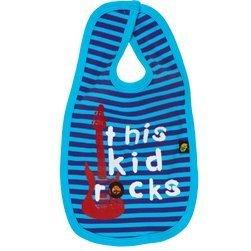 This Kid Rocks Purple/Blue Bib - novelty, baby