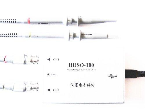 Autek Hdso-100 50M Dual Channel 100M Sampling Rate Digital Virtual Oscilloscope Usb(Os-Hdso-100)
