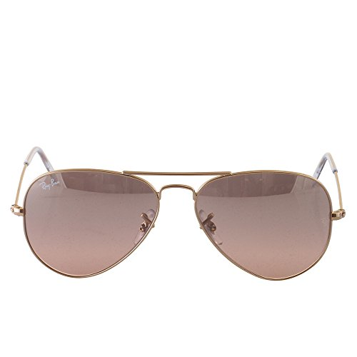 Ray-Ban Aviator Large Metal Light Mirrored Sunglasses ...