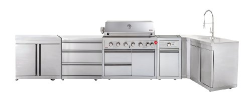 SWISS GRILL Z650SDGC90 Zurich 6-Burner Stainless Steel Grill with Infrared Rear Burner and Rotisserie Kit