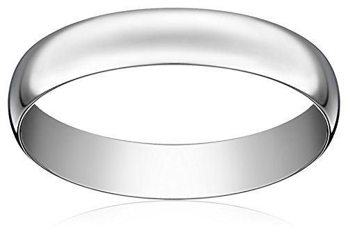 Light Comfort-Fit 14K Platinum Gold Band, 4mm, Size 11 (Platinum 4mm Band compare prices)