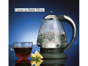 Capresso H2O Plus Water Kettle, Matte Silver, 48-Ounce