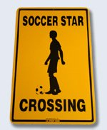 Soccer Crossing Street Sign