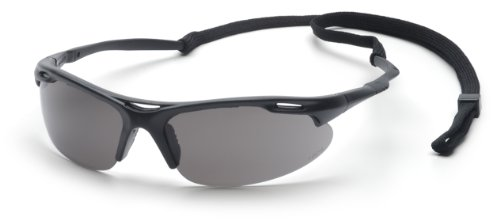 Pyramex Avante Safety Eyewear, Gray Lens With Black Frame And Cord