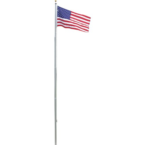 Us Flag Store Heavy Duty 20-Feet Residential Flagpole With Valley Forge Nylon Flag
