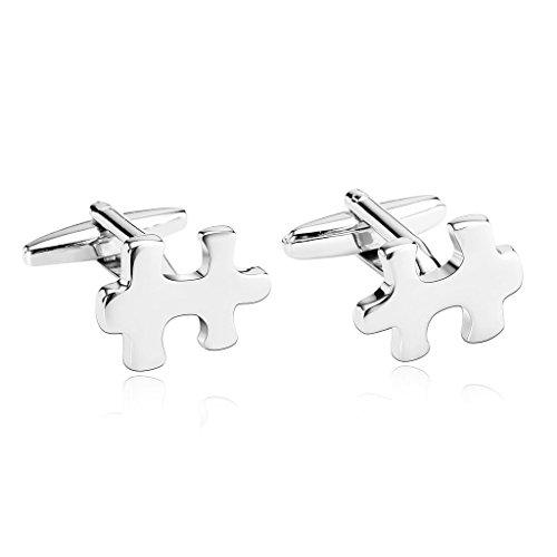 amdxd-jewelry-stainless-steel-men-cufflinks-silver-jigsaw-puzzle-piece-cuff-links