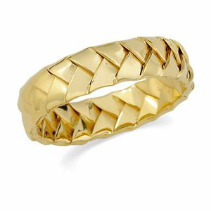 Genuine IceCarats Designer Jewelry Gift 14K Yellow Gold Wedding Band Ring Ring. Size 5 Hand Woven Band In 14K Yellowgold Size 5