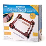 Darice Large Oak Bead Loom with Legs, 15-Inch by 14-Inch by 3-1/2-Inch