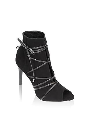 Wojas Zapatos peep toe (Negro)