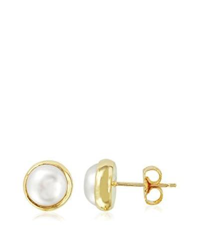 Fashion Strada 9mm Freshwater Mabe Pearl Stud Earrings