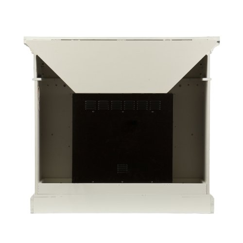 SEI Carrington Convertible Gel Fireplace, Ivory