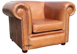 Chesterfield Berkeley bassa della poltrona Club Old English tan pelle