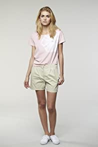 L!VE Pleated Lightweight Gab Colored Short