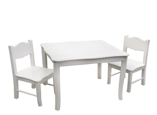 Ikea Tisch Weiß Glas ~ Check Details Guidecraft Classic White Table and Chairs Set Style No