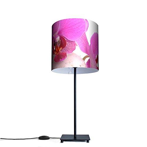 banjado-Tischlampe-Broleuchte-Schreibtischlampe-Motiv-Orchidee-Tischlampe-mit-10W-Leuchtmittel