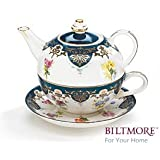 Vanderbilt Porcelain Duo Teapot Tea For One From Biltmore House Collection