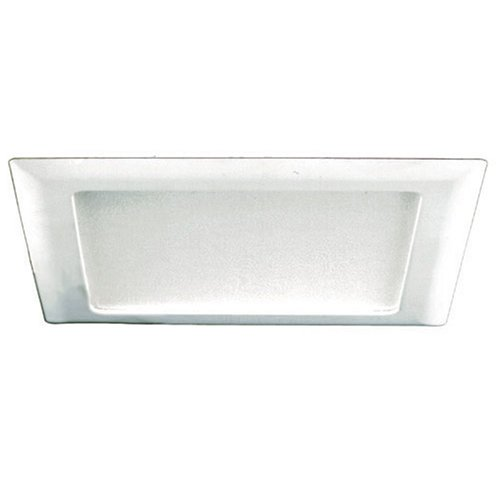 Halo 10P Square Trim with Frosted-Glass Albalite Lens, Satin White
