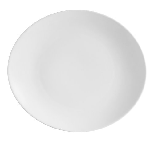 CAC China COP-14 Coupe 13-Inch by 11-3/8-Inch Super White Porcelain Oval Platter, Box of 12