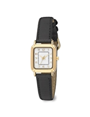 M&S Collection Rectangular Face Classic Strap Watch