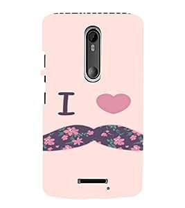 PrintVisa Mustache Love Design 3D Hard Polycarbonate Designer Back Case Cover for Motorola Moto X3
