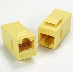 InstallerParts Cat.6 Inline Coupler w/Keystone Latch Yellow
