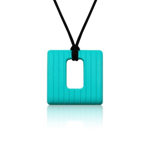 Siliconies Square Pendant (Teething/Nursing/Sensory) - Peacock Teal
