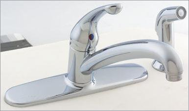 DELTA/PEERLESS FAUCET CO. 480-WF KITCHEN FAUCET WITH SPRAY